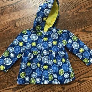 Adorable Gymboree Peplum Raincoat size 2T-3T